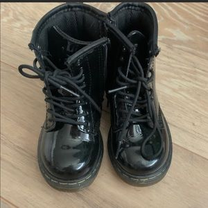 Dr. Martens LIKE NEW Black Patent Leather Boots